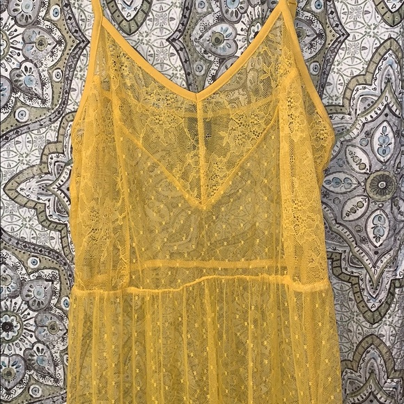 wild fable Dresses & Skirts - Yellow sheer dress